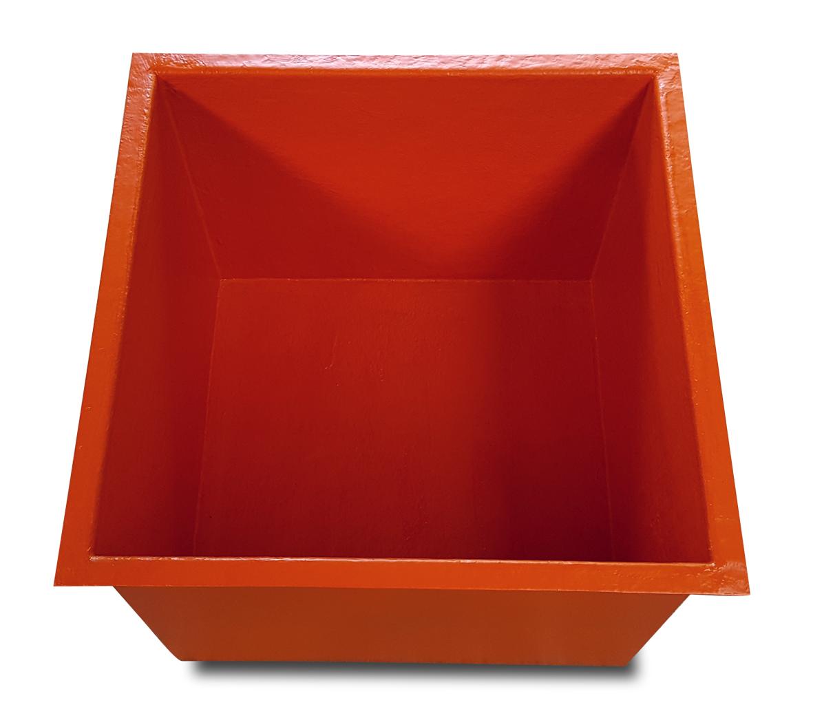 Bassin sur mesure JCB carré orange