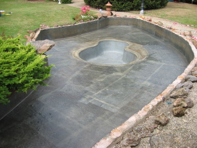 r paration polyester bassin en ciment fissur service bassin aquatique en polyester pour jardin. Black Bedroom Furniture Sets. Home Design Ideas