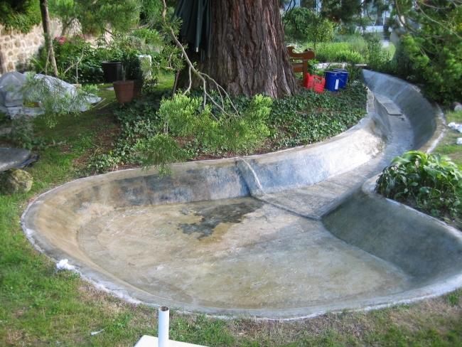 R paration polyester bassin en ciment fissur service Accessoires pour bassin de jardin