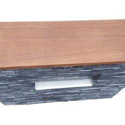 Muret d'eau prêt à poser schiste gris