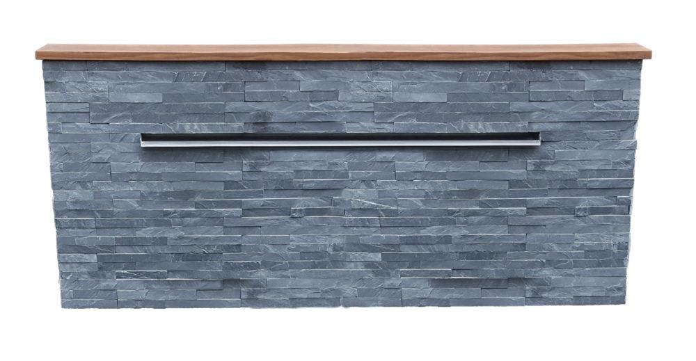 Mur d'eau en shiste gris